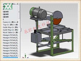 脚踏式切割机 ZDCS1012 solidworks 3D图纸 三维模型