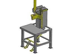 立式液压木材分割机 劈木机 木工机械 zdcs2011 Solidworks 格式 3D图纸 三维模型