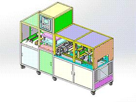 锂电池铝膜自动成型机 3D模型/ZDEA1005