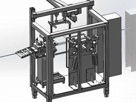 钢丝自动折弯成型机 ZDEC1001 solidworks  3D图纸 三维模型