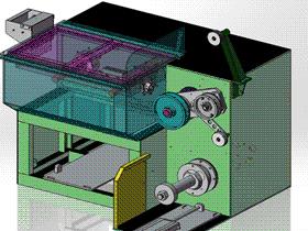 拉丝成型机构 ZDEC1002 solidworks  3D图纸 三维模型