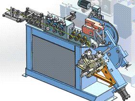 环弯曲机 ZDEC1003 solidworks  3D图纸 三维模型