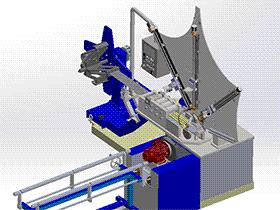 螺旋管成型机 ZDEC1004 solidworks  3D图纸 三维模型
