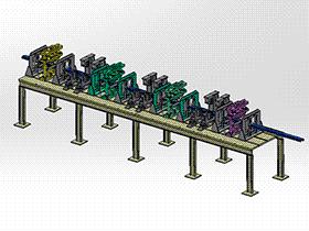 型钢矫直成型机 ZDED1001 solidworks 3D图纸 三维模型