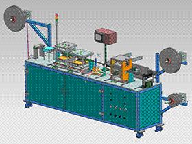 铁片料带连续冲压拉抻成型设备 ZDED1005 solidworks 3D图纸 三维模型