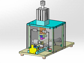 自动冲压成型机方案 ZDED1007 solidworks 3D图纸 三维模型