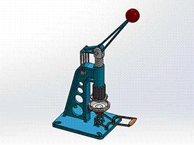 钣金冲压机(手动成型机) ZDED2002 solidworks 3D图纸 三维模型