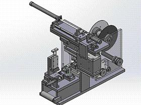 薄膜冲压冲切成型机 ZDED2003 solidworks 3D图纸 三维模型