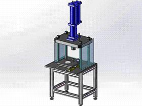 汽车音响外壳成型铆压机 ZDED2004 solidworks 3D图纸 三维模型