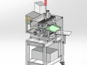 自动上料液压圆管冲口挤压机 ZDEE1001 solidworks  3D图纸 三维模型