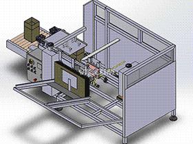 纸箱成型机  ZDEH1005 solidworks  3D图纸 三维模型