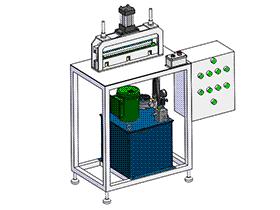 zdei1001_液压钢板锯齿成型机 solidworks 3D图纸 三维模型