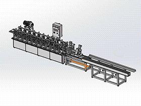 zdei1002_演示板辊成型机 solidworks 3D图纸 三维模型