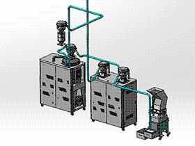 注塑机供料系统 zdem1004 solidworks 3D图纸 三维模型