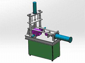 立注塑成形机 zdem1005 solidworks 3D图纸 三维模型