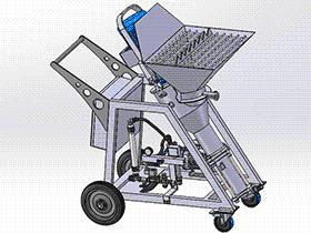石膏注射机 zdem1006 solidworks 3D图纸 三维模型