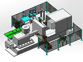 注塑产品自动化 zdem1008 solidworks 3D图纸 三维模型