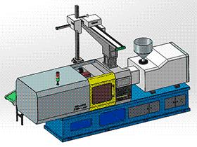 注塑机 zdem1009 solidworks 3D图纸 三维模型