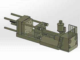 注塑机 zdem1010 solidworks 3D图纸 三维模型