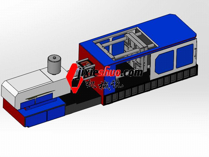 详细模板尺寸注塑机 zdem1011 通用格式 3D图纸 三维模型