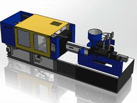 注塑机 ZDEM2001 solidworks 3D图纸 三维模型