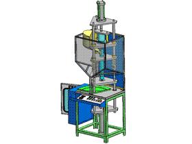 PVC立式注塑机 ZDEM2004 solidworks 3D图纸 三维模型