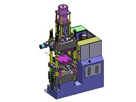 PVC立式注塑机 ZDEM2005 solidworks 3D图纸 三维模型