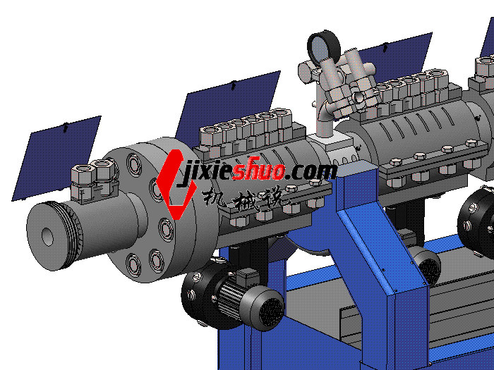 塑料挤出成型机 ZDEM2006 solidworks 3D图纸 三维模型