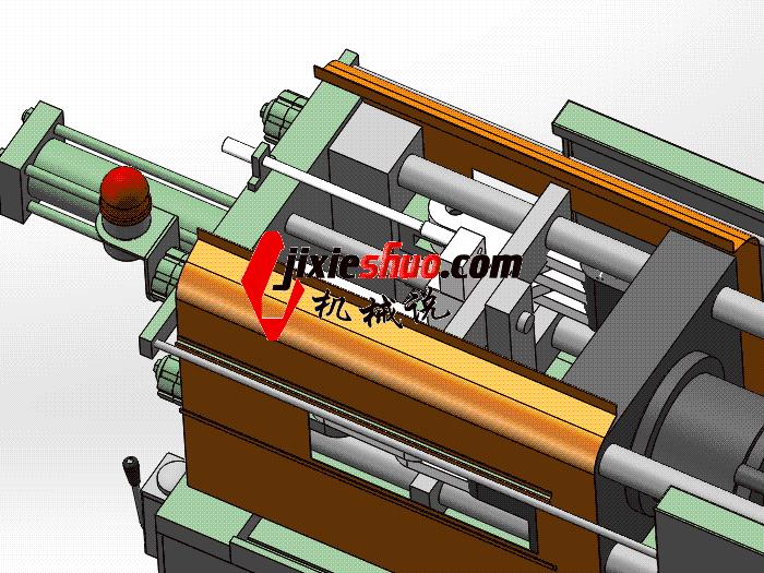 注塑机 ZDEM2008 solidworks 3D图纸 三维模型