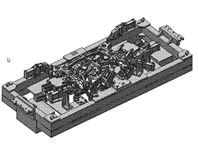 德系变位机焊接夹具分总成  ZDFB1001 solidworks  3D图纸 三维模型