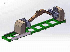 可调头尾架式焊接变位机  ZDFB1005 solidworks  3D图纸 三维模型