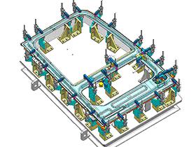 可旋转焊接夹具  ZDFB1006 solidworks  3D图纸 三维模型