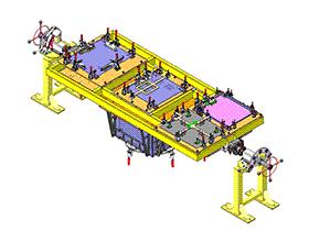焊接平台旋转工装  ZDFB1008 solidworks  3D图纸 三维模型