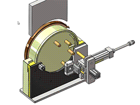 自动旋转工装  ZDFB1009 solidworks  3D图纸 三维模型