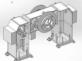 1吨360度中空头尾式变位机  ZDFB1010 solidworks  3D图纸 三维模型