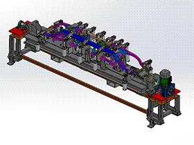 1吨360度中空头尾式变位机  ZDFB1011 solidworks  3D图纸 三维模型
