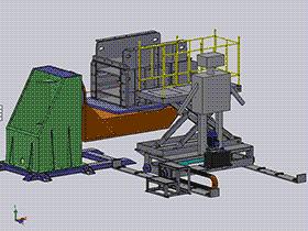 大型转载机变位焊接机 ZDFB2002 solidworks  3D图纸 三维模型