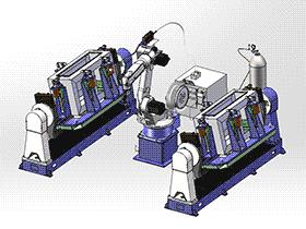 旋转焊接工装 ZDFB2008 solidworks  3D图纸 三维模型
