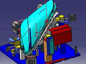 车灯气密性检测夹具 ZDFE1004 solidworks  3D图纸 三维模型