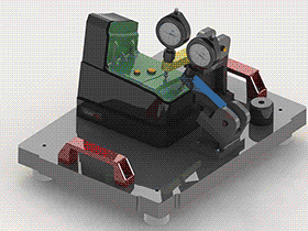 检测夹具 ZDFE2001 solidworks  3D图纸 三维模型