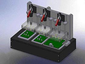 手动测试夹具 ZDFE2003 solidworks  3D图纸 三维模型