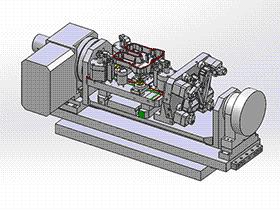 发动机缸盖液压夹具总装图 zdfg2005 solidworks 3D图纸 三维模型