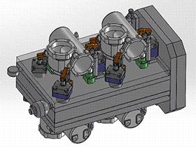 机床加工精密液压工装夹具 zdfg2008 solidworks 3D图纸 三维模型