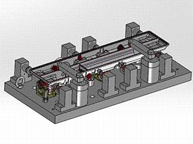 精密液压工装夹具(装配+零件) zdfg2009 solidworks 3D图纸 三维模型