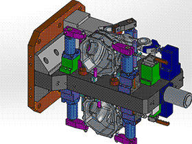 壳体双工位液压夹具 zdfg2010 solidworks 3D图纸 三维模型