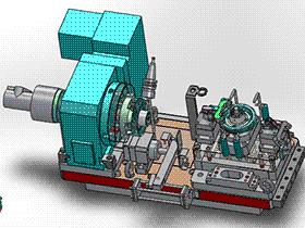 输出主动齿轮液压夹具组立图 zdfg2012 solidworks 3D图纸 三维模型
