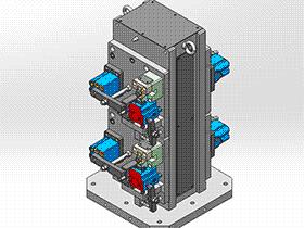 阀体夹具组立图 zdfi1001 solidworks 3D图纸 三维模型