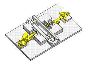 可抵消工件尺寸误差的焊接夹具 zdfi1002 solidworks 3D图纸 三维模型