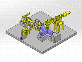 空气流量确认夹具 zdfi1003 solidworks 3D图纸 三维模型