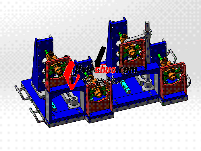 制动主缸测量夹具 zdfi1009 solidworks 3D图纸 三维模型